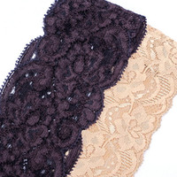 Elastic Lace Headbands Hair Accessory Stretchy Hairband Yoga Headband Plum Cream Cute Teen Women Gifts for Her Buy 2 Get 1/2 Off Second Band