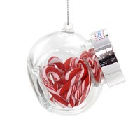 Holiday Ornaments OLD FASHION CANDY JAR Christmas Peppermint A1722 Candy Canes