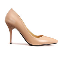 Apricot Pointed High Heels