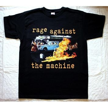 Newest 2018 Rage Against The Machine Ratm'92 Audioslave Lock Up Clawfinger New Black T Shirt Printed T Shirts Men'S Streetwear|T-Shirts