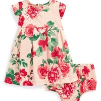 Infant Girl's Ruby & Bloom Floral Print Dress & Bloomers