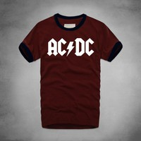 ACDC Alternating CurrentDirect Current T Shirt Heavy Metal Rock Band Punk Music Hipster Musician Men 100% Cotton Comfortable