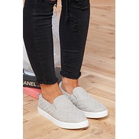 In Disguise Slip On Sneakers (Grey)