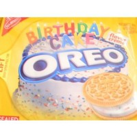 Nabisco Oreo Sandwich Cookies Limited Edition Birthday Cake Golden - 1 Pack - 15.25 Oz.