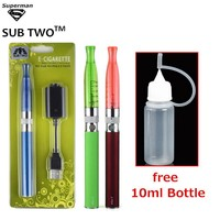 eGO H2 Blister kit Electronic Cigarette 1100mah battery 2.0ml h2 atomizer 10ml Smoke Oil Bottle e cigarette vape pen vaporizer