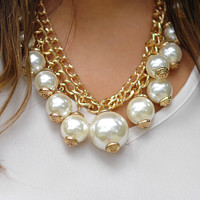Out Of The Oyster Pearl Necklace: Ivory   Hope's
