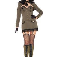 Leg Avenue 5PC Pin Up Army Girl Costume