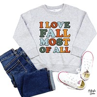 YOUTH Colorful Fall Sweatshirt