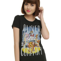 Disney Oliver & Company Poster Art Girls T-Shirt