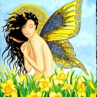 The Daffodil Fairy by victoriaholmanart on Zibbet