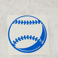3x3 Inch Baseball/Softball Baseball Insignia Athletic Graphic Permanent Vinyl Decal/Bumper Sticker