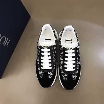 DIOR  Men Fashion Boots fashionable Casual leather Breathable Sneakers Running Shoes 12
