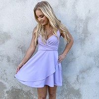 Sweet Escape Lilac Skater Dress