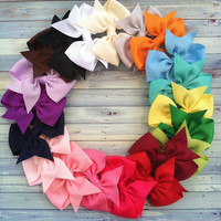 1.00 hair bows  / hairbows / set of 10 / perfect for newborn- infant - toddler - girls /  BEST SELLER