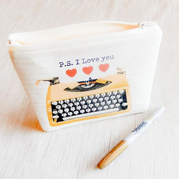 Gift For Her/ Coworker Gift/ Make Up Bag/ Pencil Case/ BFF Gift/ Mom Gift/ Gift for Writer/ Wife Gift/ Valentine Day Gift/ Girlfriend Gift