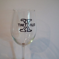 The X-Files Wine Glass