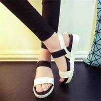 summer shoes woman hot selling sandals women 2016 peep toe flat shoes roman sandals women sandals sandalias mujer sandalias x278