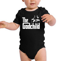 11 COLOR Choices! The Godchild Movie Tribute Infant Bodysuit - Adorable & Cute Comfy Baby One-Piece Onesuit - Great Baby Shower Gift Idea