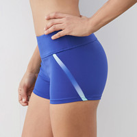 Ombre-Paneled Workout Shorts