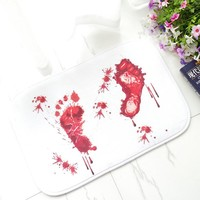 Bloody Footprint Bath Mat Rug