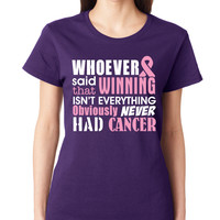 Purple Winning Is Everything Crewneck Tee