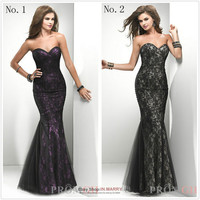 Long Evening Dress Formal Party Fashion Prom Bridesmaid Sweetheart Cocktail Gown