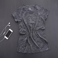 SIMPLE - Summer Women Short Sleeve Sport Suit Fitness Sportswear Stretch Exercise Yoga Top T-shirt b4001
