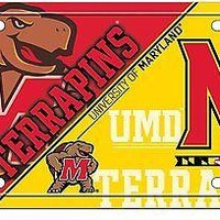 Maryland Terrapins New Split Design 320203 Metal License Plate Tag University of