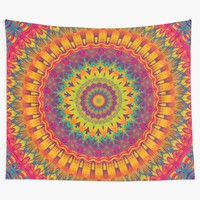 'Mandala 92' Wall Tapestry by Mandala Of Life