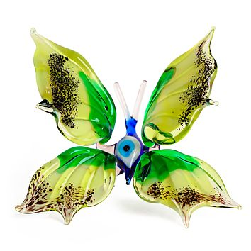 """Glass Butterfly Insects Animal Figurine 3.5"""""""