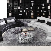 Large Leather Sectional - OpulentItems.com