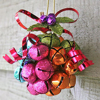 colourful jingle bell decoration by berry red   notonthehighstreet.com