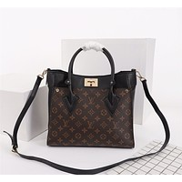 LV Louis Vuitton WOMEN'S LEATHER ON MY SIDE HANDBAG SHOULDER BAG