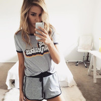 Casual Print Sports Suit