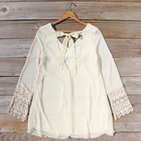 Moon & Feather Dress in Cream