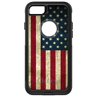 DistinctInk™ OtterBox Commuter Series Case for Apple iPhone or Samsung Galaxy - Red White Blue United States Flag Old