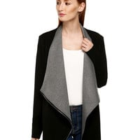 Block Long-Sleeve Lapel Blazer