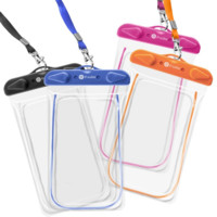 Waterproof Case, 4 Pack F-color Clear Transparent TPU Perfect for Rafting, Kayak