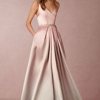 Wedding Guest Dress by Anthropologie x BHLDN in Blush Ombre Size: