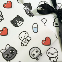 Printable wrapping paper -  Binding of Isaac Instant Download
