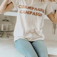 Champagne Campaign Graphic Tee