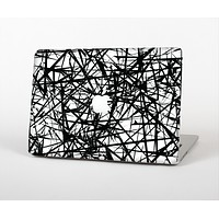 """The Black and White Shards Skin Set for the Apple MacBook Air 13"""""""