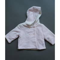 Silvian Heach Bebe - Baby Girls Velour Hooded Coat