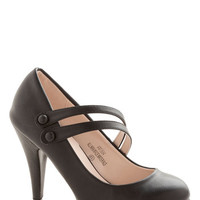 ModCloth A New Spin Heel in Black