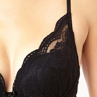 Moderate Lace-Trimmed Push-Up Bra