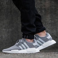 Adidas NMD R1 PK SOLID GREY S31503 Boost Sport Running Shoes Classic Casual Shoes Sneakers