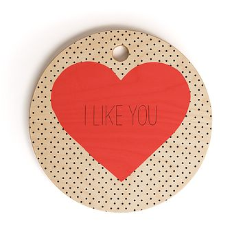Allyson Johnson I Like You Cutting Board Round