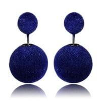 Gum Tee Mise en Style Tribal Earrings - Velvet Royal Blue