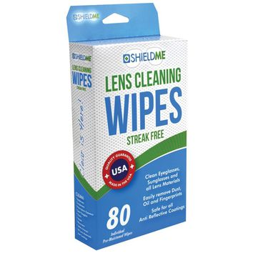Shieldme Lens Cleaning Wipes 80 Ct
