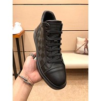 lv louis vuitton trending womens men leather side zip lace up ankle boots shoes high boots 195